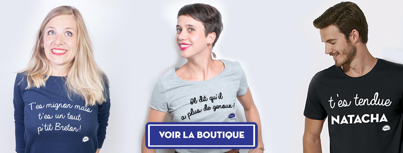 Fédération Française de la Réplique Culte : Des T-shirts, sweats, sacs et autres produits stylés avec les répliques de vos films préférés.