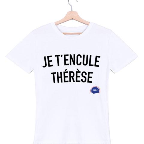 je tencule therese tshirt homme blanc federation francaise de la replique culte