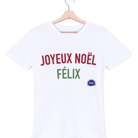joyeux noel felix tshirt homme blanc federation francaise de la replique culte