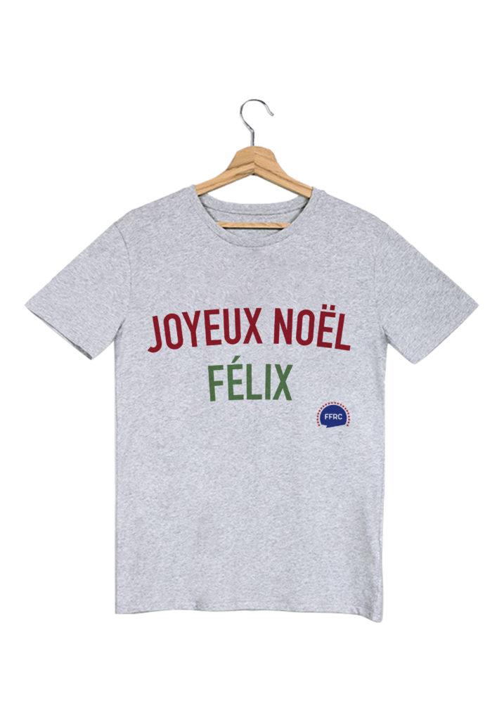 joyeux noel felix tshirt homme gris federation francaise de la replique culte
