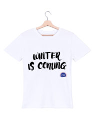 winter is coming tshirt homme blanc federation francaise de la replique culte
