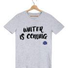 winter is coming tshirt homme gris federation francaise de la replique culte