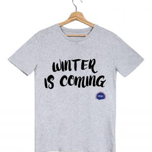winter is coming tshirt homme gris federation francaise de la replique culte